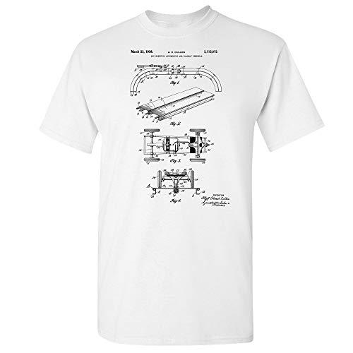 - RC Slot Car T-Shirt, Racer Gift, RC Racing, Hobbyist Gifts, RC Touring Car, Hobby Shop, Racing Circuit, Speedway Raceway White (3XL)
