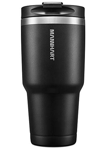 Mannhart [Leak-proof Screw Lid] Tumbler, 30 OZ Double Wall Vacuum Insulated Tumbler, [Hot 6H & Cold 24H] BPA-Free Travel Mug, Premium Stainless Steel, Coffee Travel Mug, B201 (000EH22643)
