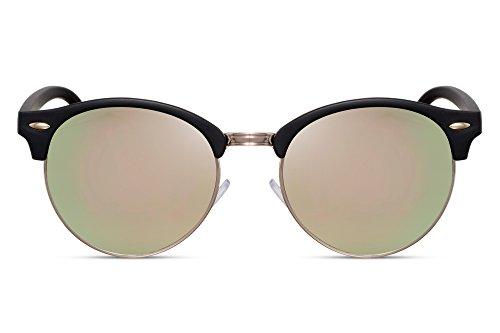 Retro de Cheapass Negro Gafas Espejados Variación Ca Clubmaster Mujer 029 Sol Hombre S7wHSq