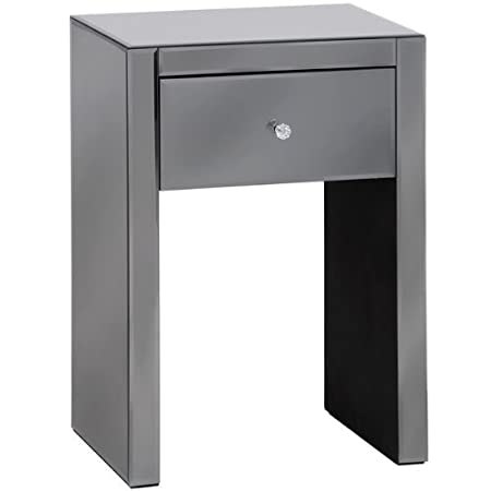 Luxor smoked glass one drawer bedside table amazon kitchen luxor smoked glass one drawer bedside table watchthetrailerfo