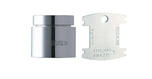 Chicago Faucets E3VPJKCP Vandal Proof Pressure Compensating Softflo Aerator, Chrome
