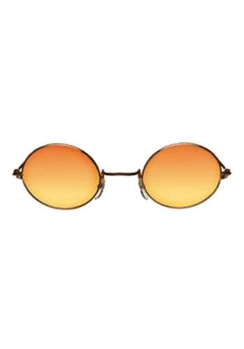 [John Glasses - Gold Orange Yellow Costume Accessory] (Ozzy Osbourne Halloween Costume)