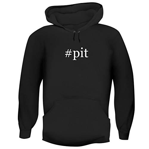 One Legging it Around #Pit - Hashtag Men's Funny Soft Adult Hoodie Pullover, Black, XXX-Large ()