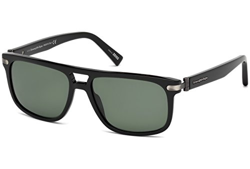 ERMENEGILDO ZEGNA EZ0042-01R ACETATE SUNGLASSES Black 57MM from Ermenegildo Zegna