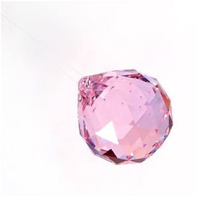 40mm Asfour Crystal Ball Prisms #701-40 (Pink): Garden & Outdoor