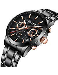 Mens Watches Chronograph Business Dress Analog Quartz Watch Men Luxury Brand Date Sport (Rose Gold ()