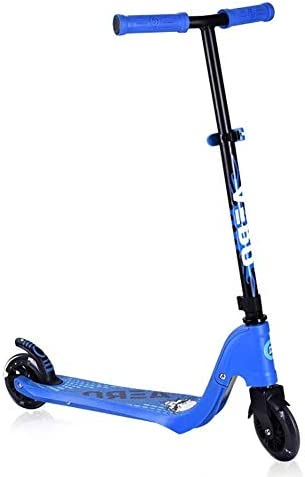 HNSYDS スクーター子供蹴る - フラッシュホイールと二輪アジャスタブルTバーの高さ スクーター