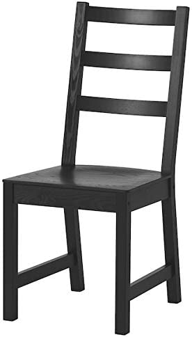 Chaise NORDVIKEN DiscountSeller, noir, 44x56x97 cm durable et facile d'entretien. Chaises de salle à manger. Meubles respectueux de l'environnement.