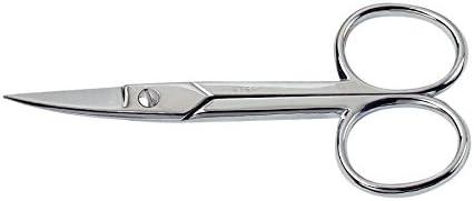 BETER PHARMACY-Tijeras cortaúñas curvados para manicura, en acero cromado: Amazon.es: Belleza