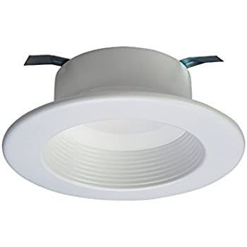 matte white integrated led recessed lighting retrofit downlight baffle trim with 90