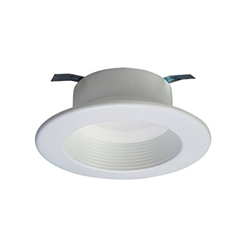 Halo RL460WH940 RL Integrated LED Recessed Lighting Retrofit Downlight Baffle Trim with 90 CRI, 4000K, 4'', White by Halo