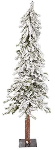 Flocked Alpine Tree - Direct Export Designers Excellence 5ft Alpine Medium Flocked Tree