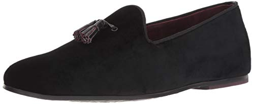 Ted Baker Men's LILITY Loafer Flat, Black Textile, 12 Medium US