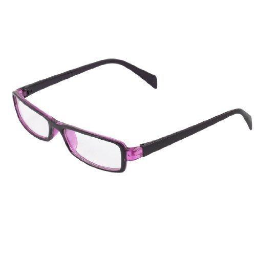 Uxcell - Kinder Violette Bügel Komplettes Gestell Klare Linsen Einfarbige Brille - Violett, Eine Größe