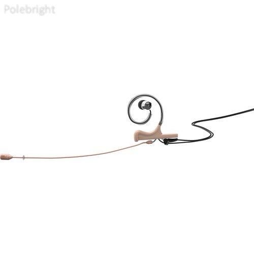 Microphones D : Fine 4088インナーイヤーヘッドセット、マイク、1-earマウント1-in-earブロードキャストし、アダプタwith ta5 Fコネクター(ベージュ) – polebright更新   B01MRB5C8Y