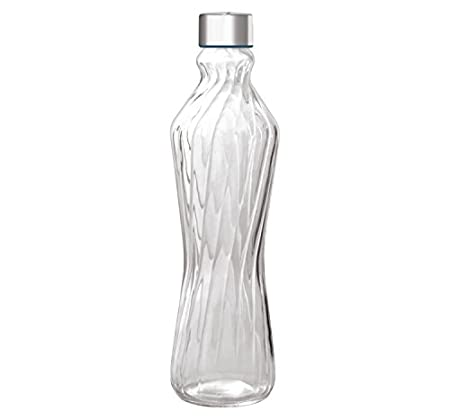 Treo Verve Glass Bottle, 1 Litre, Transparent Glassware & Drinkware at amazon