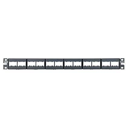 CPP24WBLY: Panduit Patch Panel, 24 Port, Modular, Black