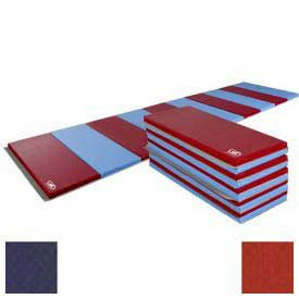 Educator Mat, 4 Sides Hook & Loop, 48″W x 72″L, Navy/Red