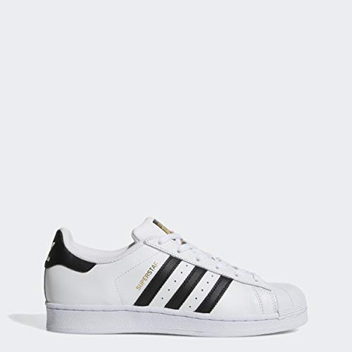 adidas Originals Women's Superstar Sneaker, White/Black/White, 9