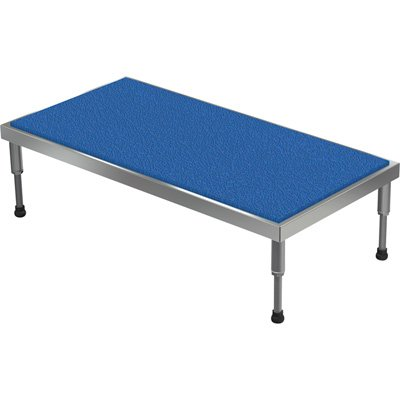 Vestil Adjustable Ergo-Mat Work-Mate Stand - 48in.W x 24in.D, 500-Lb. Capacity, Aluminum, Model# AHT-H-2448-A by Vestil