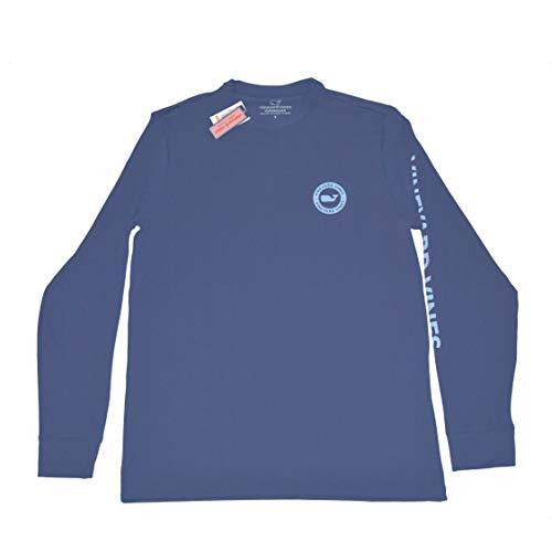 Vineyard Vines Men's Performance Long Sleeve Whale Dot Cobalt Blue (L)