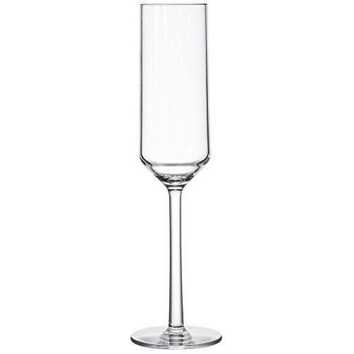 Barware Champagne - 6 oz. Tritan Plastic Champagne Flutes, Reusable, BPA Free, Break Resistant, Dishwasher Safe, Via Collection by GET SW-1462-CL-EC (Pack of 4)
