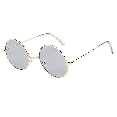 FORUU Glasses, Women Men Vintage Retro Unisex Fashion Circle Frame Sunglasses Eyewear 2019 Summer Newest Arrival Beach Holiday Party Funny Best Gifts For Boyfriend Under 10 Dollars Free ()