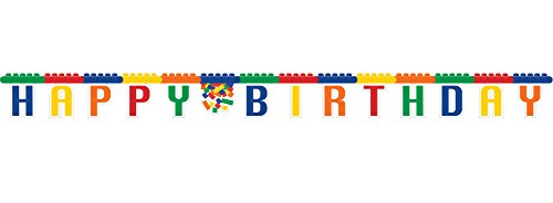Creative Converting Building Block Party Jointed Banner -