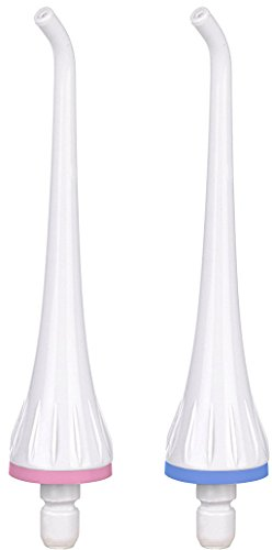 Replacement Twin Pack (Replacement Tips for THZY FL-V17 Professional Water Flosser / Oral Irrigator Twin Pack,also for NURSAL, TEC.BEAN (Classic White))
