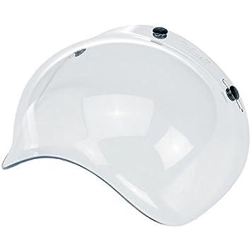Visera universal tipo burbuja para cascos de moto abiertos con 3 broches, diseño
