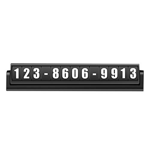 PPuujia Tijdelijke parkeerkentekenplaat Auto Styling Tijdelijke Parkeerkaart Auto Telefoon Nummer Kaartplaat Auto…