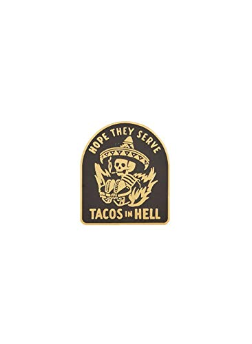 Hope They Serve Tacos in Hell Enamel Lapel Taco Pin Black Gold