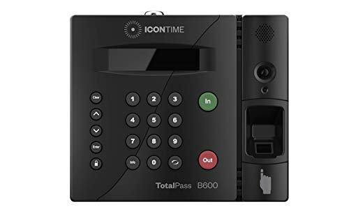 TotalPass B600 Biometric Employee Time Clock | 100% Identity Verification on Every Punch| Connect via USB, Network, Wi-Fi or Web| No Monthly ()