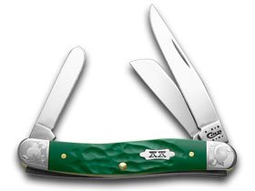 CASE XX Rough Grün 1 500 Scrolled Stockman Pocket Knife Knives