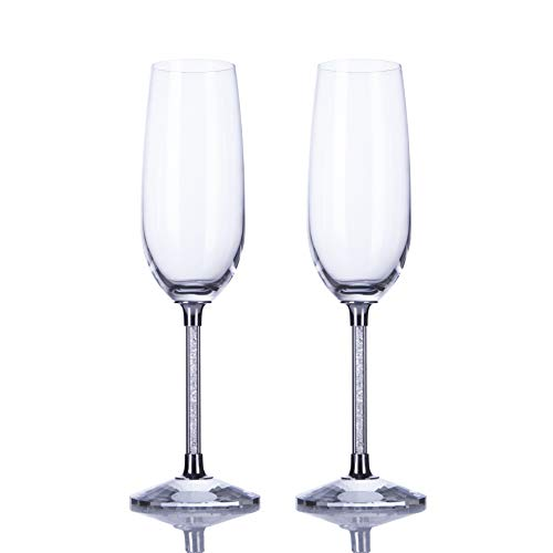 4f12b336df Personalized Wedding Dress Wine Glasses-ULA Handmade Bride and Groom ...