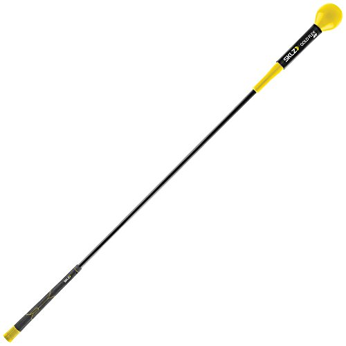 Swing Golf Stick (SKLZ GFT01-000-001 Gold Flex Golf Trainer. Strength, Tempo, and Warm Up Tool. 48