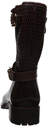 Alexis Leroy - Botas de agua caucho corta diseño clásico para mujer Marrón