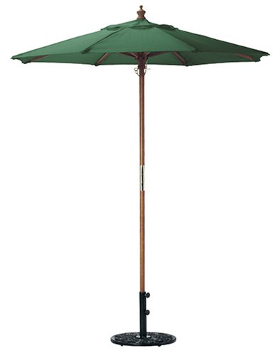 Oxford Garden 6 Foot Polyester Market Umbrella, Hunter Green
