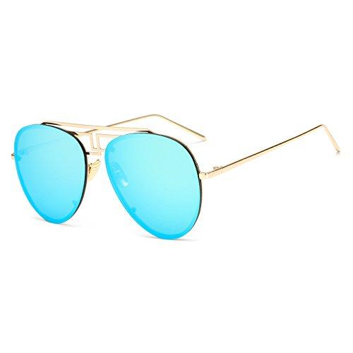 llanta de de sin Amarillo Las AM3470 Gafas Mujer TL C8 Tendencia C10 de Moda Hombres Mujeres Sunglasses Sol de los Gafas piloto para AM3470 Gafas Océano Verano Tinte Lente zBRI74WqR