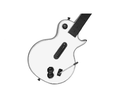 Guitar Hero III 3 (GH3) for Xbox 360 or PS3 Skin - NEW - WINTER WHITE system skins faceplate decal mod