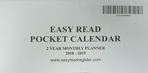 2 year monthly planner pocket calendar 3x6 inches 2018 2019 fits standard sized checkbook cover buy online in ksa office products products in saudi