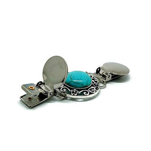 Cinch Together Your Dress Cardigan or Other Clothing Sweater Handmade Turquoise Design Clothes Clip