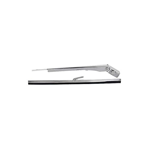 MACs Auto Parts 32-26342 Windshield Wiper Arm & Blade - Universal Adjustable - Stainless Steel - 11 Long Blade - Use With Electric Wiper Motors -