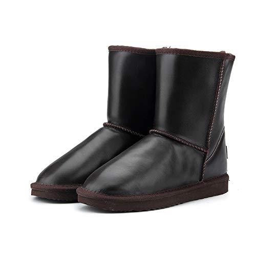 Las Botas Para Zapatos Piel Suave Chocolate Calientan Invierno Los Super Nieve Mujeres Botín Totalmente Antideslizantes Damas Suela Forradas De Impermeable Gruesa SrPrwqEU