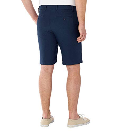 Greg Norman ML75 Luxury Microfiber Ultimate Travel Golf Shorts (Blue Heathered, 32)