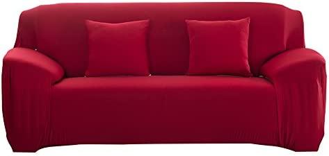 Domybest estirable cubierta de sofá, moda, conveniente para muchos sofás ajustables móviles 2 plaza Rojo Púrpura