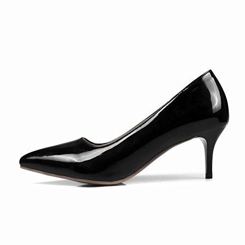 Escarpins Noir Talons Moyen Vernis Femmes MissSaSa 5wqvXaS