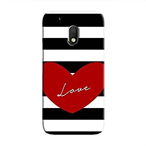Cover It Up Love Stripes Hard Case For Moto G4 Play, Multi Color