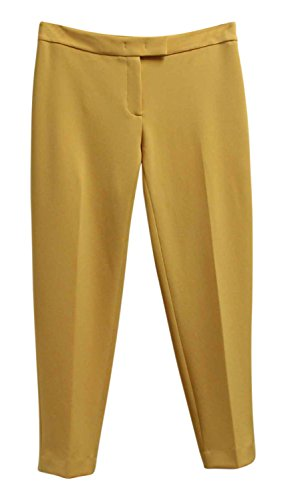pris Cropped Flat Front Pants Yellow 8 (Anne Klein Capris)