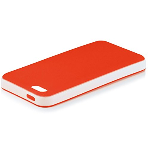 Apple iPhone 4 / 4S | iCues Bicolor TPU Rouge | [Protecteur d'écran, y compris] gel de silicone Housse étui de protection couverture Coque Housse Sac Étui Case Cover